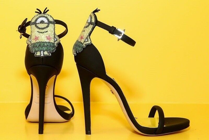 RARE NIB MINION Ruthie Davis schuhe Stiletto Despicable Me Heels 1495 IT 37 US 7  1495 Heels 7c19d8