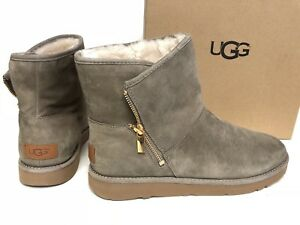 d0ad882faf0bb Details about UGG Australia Kip Ankle Booties Boot Sheepskin 1019631 Clay  Side Zip sizes