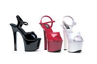 Ellie Shoes 711-flirt 7 Square Stiletto High Heel Platform Dancer Sandals Strap