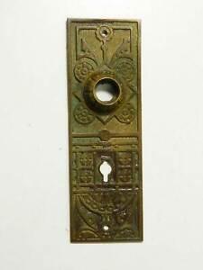 12 Lot of Clock etc. Vintage NOS Brass Cabinet Door KEY HOLE ESCUTCHEONS