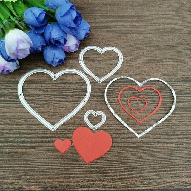 DISCOUNT 15/% ALWAYS IN MY HEART Metal Cutting Dies and stamps DIY Scrapbooking