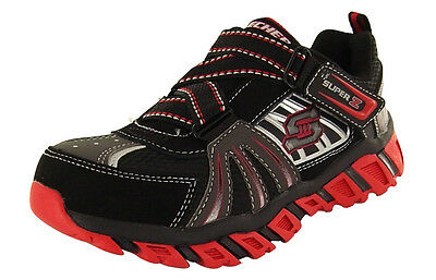 SNEAKERS Black//Red Brand new 90405L Size 10.5 Boy/'s Skechers S LIGHTS LIGHT UP