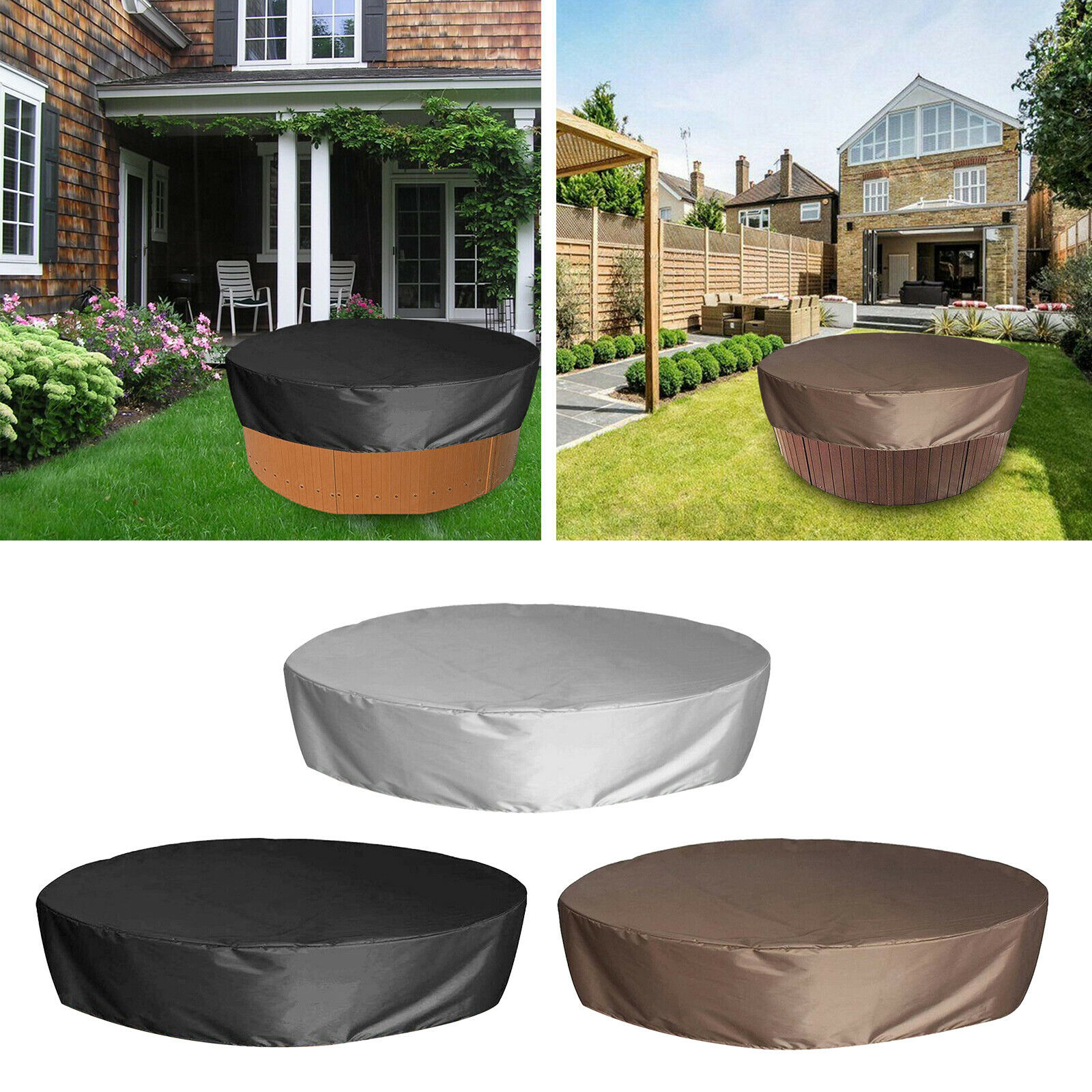 190cm Round Pool Cover for Garden Outdoor Hot Tub Pond Above Ground Pool