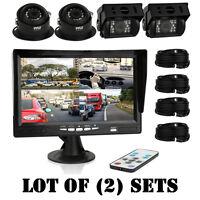 Pack Of (2) Sets Pyle Plcmtrs77 Truck/bus/rv/camper Back-up Cameras Monitors Kit on sale