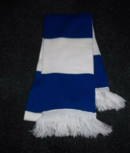 HORSE RACING SCARF BLUE AND WHITE