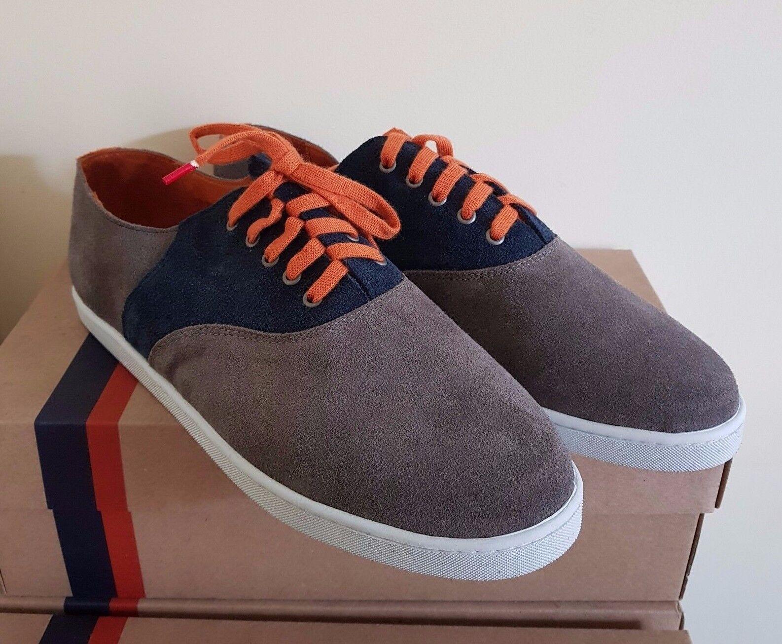 Peaceful gris   naranja zapatos masculinos 44 euros   estética 11 euros (precio de venta al por hombresor  149 euros)