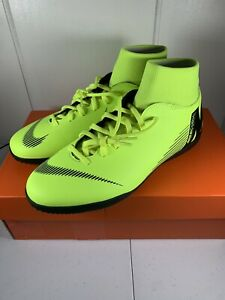 Nike-Mercurial-Superfly-6-Club-IC-Men-039-s-Size-8-Soccer-Shoes-AH7371-701-Volt-NEW