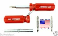 Enderes Tool 4 In 1 Mini Screwdriver Phillips Slotted Flat Made In Usa 4-1