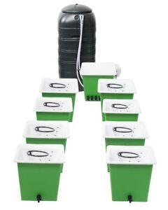 Homme Vert 6 & 8 Pot Dwc Systèmes Complet Avec 225 L Flexi Tank Hydroponics-afficher Le Titre D'origine Wbomjeod-10040249-479376612