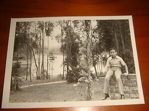 1974-Scenery-inside-Singapore-Zoo-Black-amp-White-Photograph-Nice