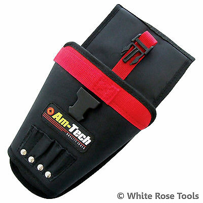 New Am-Tech N1250 Heavy Duty Drill Holster Holder Storage Pouch Belt Tool Bag