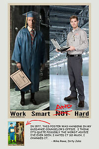 Mike Rowe - Work Smart AND Hard Poster
