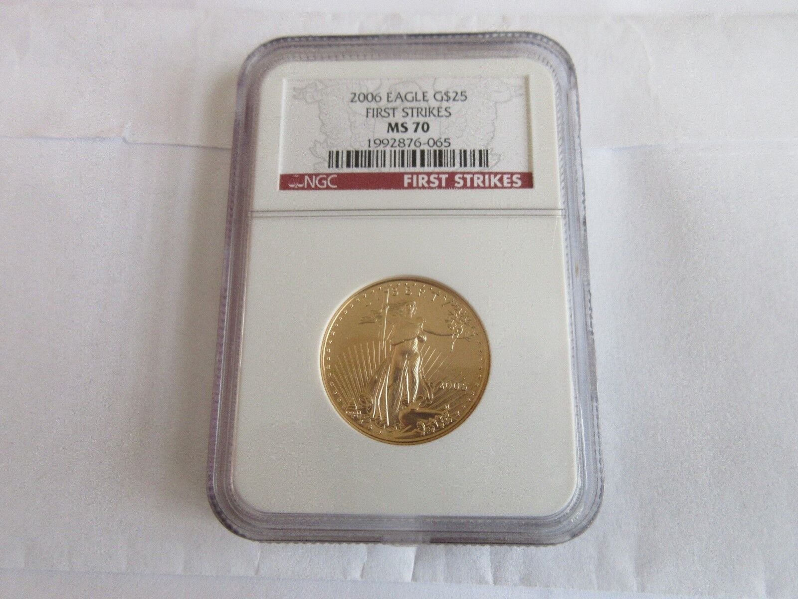 2006 , Eagle , G$25 , NGC , MS70 , First Strikes