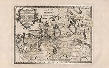 BALTIKUM RUSSLAND STATTHALTERSCHAFTEN schöne Landkarte von Reilly 1791 Original!