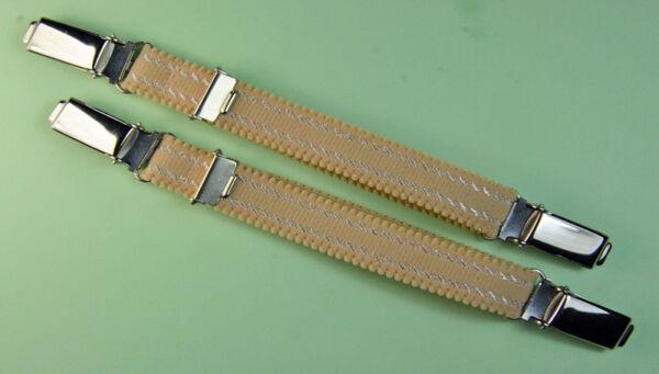 Straps, Strapsbänder 1,5cm breit mit beidseitig Hosenträgerclip