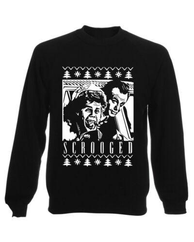 Scrooged Noël Sweat-shirt Cadeau Unisexe Pull À Capuche Blanc Ugly Bill Murray