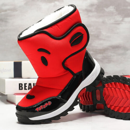 Kids Boys Snow Boots Girls Winter Warm Cotton Shoes Fashion Walking Casual Size