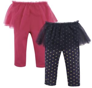 Hudson Baby Girls Tutu Leggings 2 pack