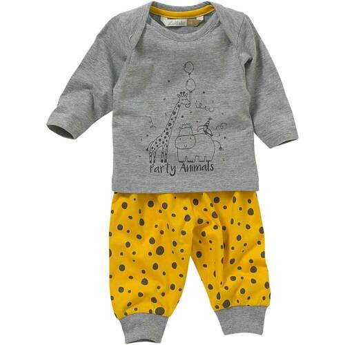 Lullaby Baby Boys Pyjamas Love Cuddles Giraffe Hippo Animals Printed Cotton