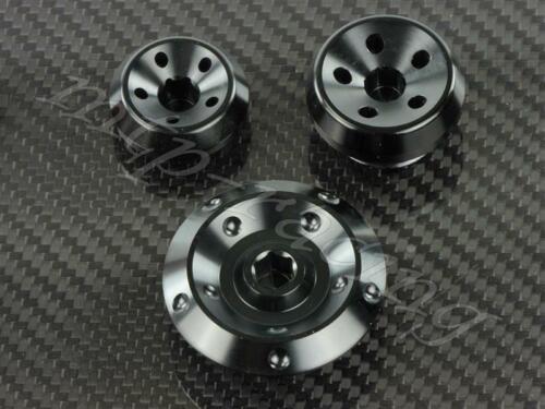 Alu CNC Motordeckel Verschlußschrauben Kawasaki schwarz