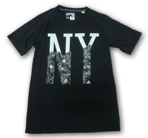 Nice adidas Ultimate Tee NY City Men's Black T-shirt Authentic adidas apparel for cheap