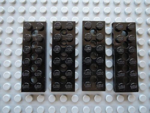 LEGO 4 X PIASTRA Technic Piastra foro 32001 NERO 2x6