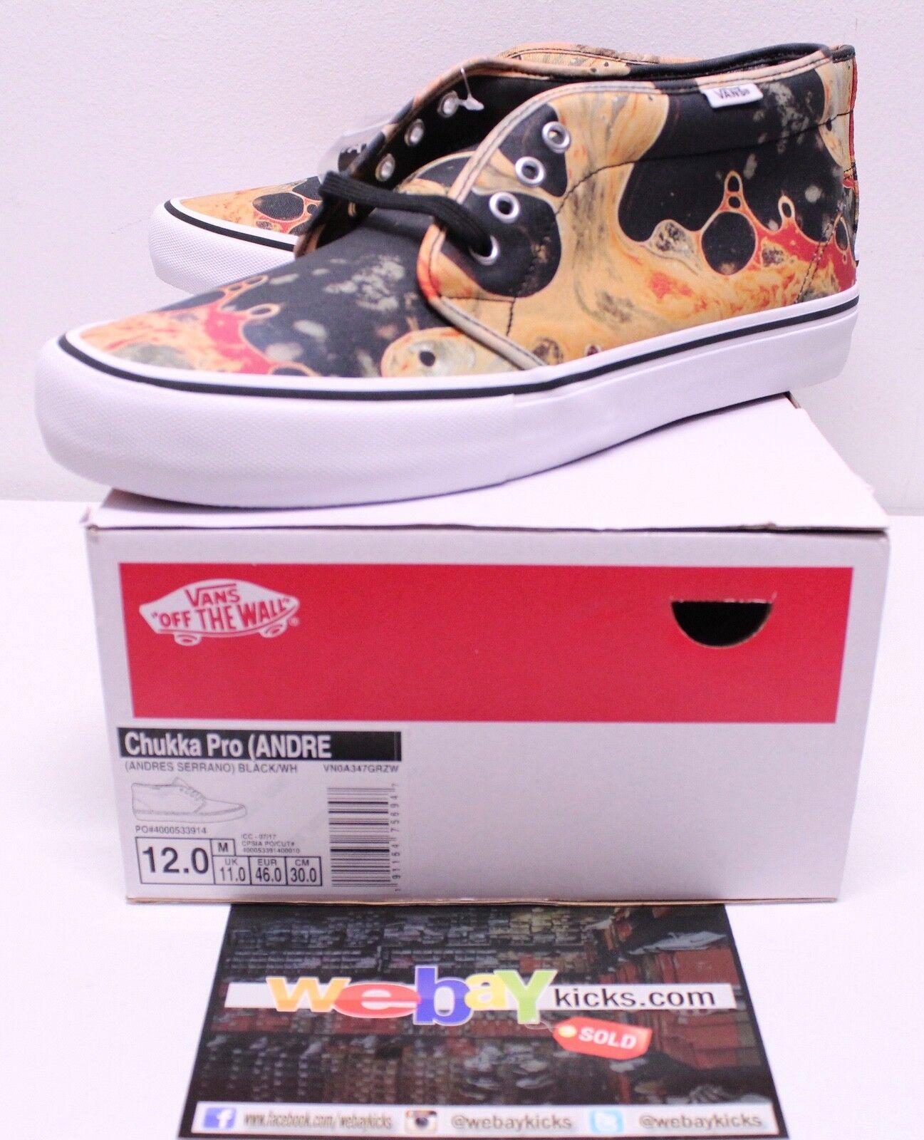 Vans Supreme Chukka Pro Mid Blood and Semen Sneakers Men's Size 12 New