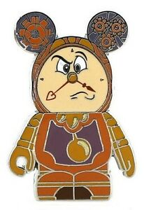 2013 Disney Vinylmation Beauty And The Beast Cogsworth Pin