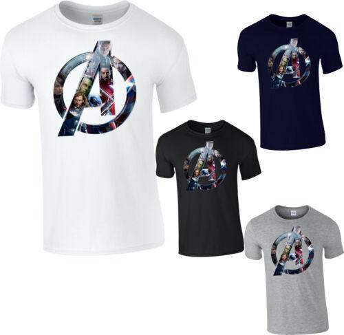 Avengers Logo Super-Héros T-shirt fin jeu Ironman Thor Hulk Captain America Tee