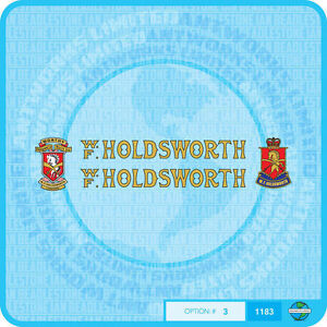 Gold With Black Key Set 1 Holdsworth Bicycle Decals Transfers Stickers