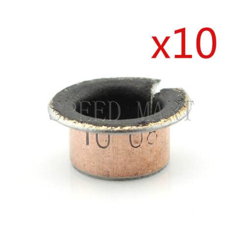 10Pcs SF-1F 1008 Self Lubricating Flanged Openings Bearing Bushing 10*12*8mm