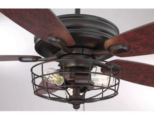 Details About 52 Wire Cage Ceiling Fan Unique Steampunk Farmhouse Led Light Bronze