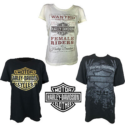 Radient Harley-davidson Motor Bike Loose Fit Fashion T-shirt Ladies 100% Cotton Tops Elegantes Und Robustes Paket