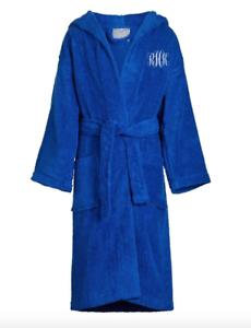 Personalized-Hooded-Terry-Cloth-Bath-Robe-Unisex-Kid-039-s-Sizes-Monogram