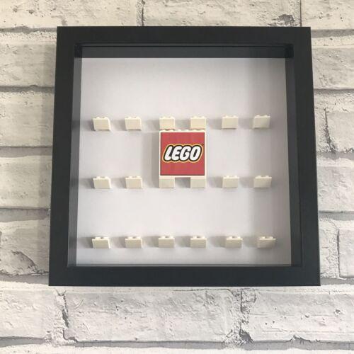 Mini Figures Display Case Frame Lego Black White LEGO LOGO SIGN  *CHOOSE COLOUR*