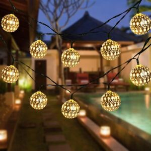 reputable site 510e1 f2042 Details about Globe String Lights, CMYK 20 Ft 40 Balls Waterproof LED Fairy  Lights, Outdoor
