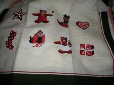 Williams Sonoma Christmas Cream Gingerbread Chef Large Kitchen Towel New