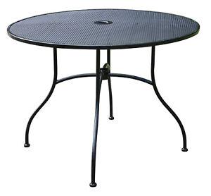 Solax-Sunshine Gartentisch rund 100cm Durchmesser Eisen Belastbarkeit 80 kg