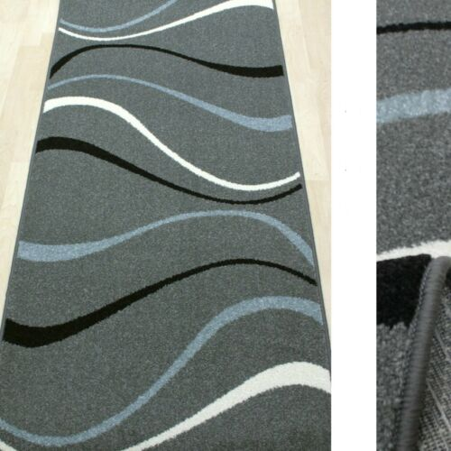 New Wave gris 80 cm de ancho tejidos Bf 3424-274 * Top alfombra alfil