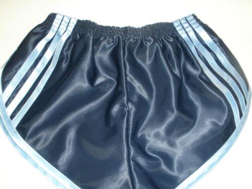 Nylon Satin Sprinter Shorts S to 4XL Navy /& Sky Blue