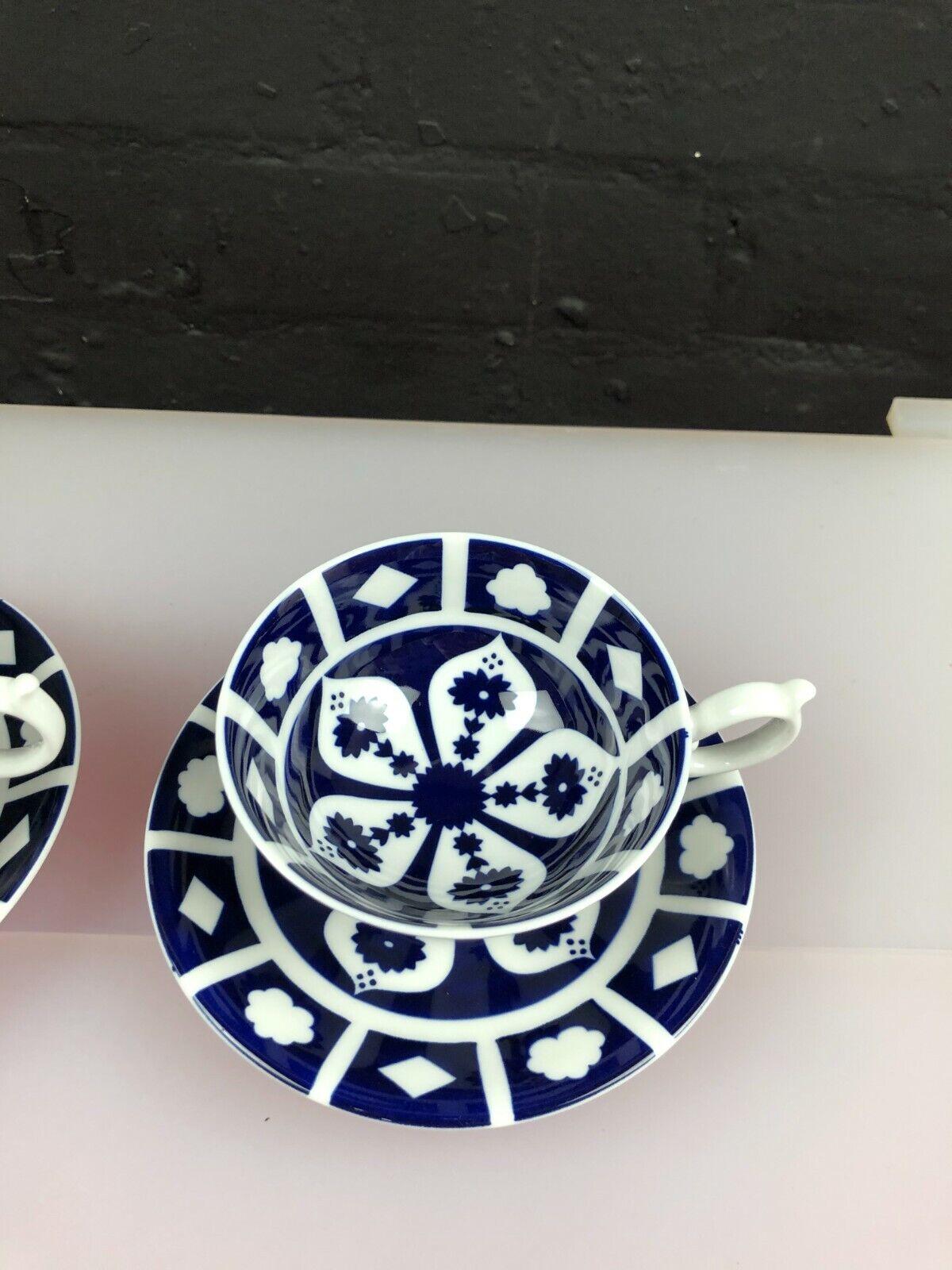 Image 3 - 2 x Royal Crown Derby Unfinished Imari 1128 Elizabeth Tea Cups & Saucers 5 Sets