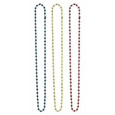 Pride 3pk Necklace Rainbow Disco Festival Parade Party Fancy Dress Accessories