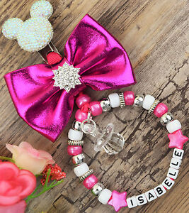 Personalised-stunning-pram-charm-in-Hot-pink-for-baby-girls-ideal-gift