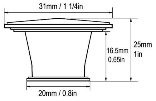 "10 Satin Nickel Kitchen Cabinet Drawer Square Knobs Pulls 31MM  1 1//4/"" Brushed"