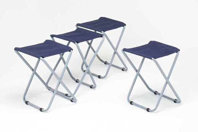 NEW  4 x Folding Canvas Seat Camping Stools, Fishing, Caravan, Festival, Picnic