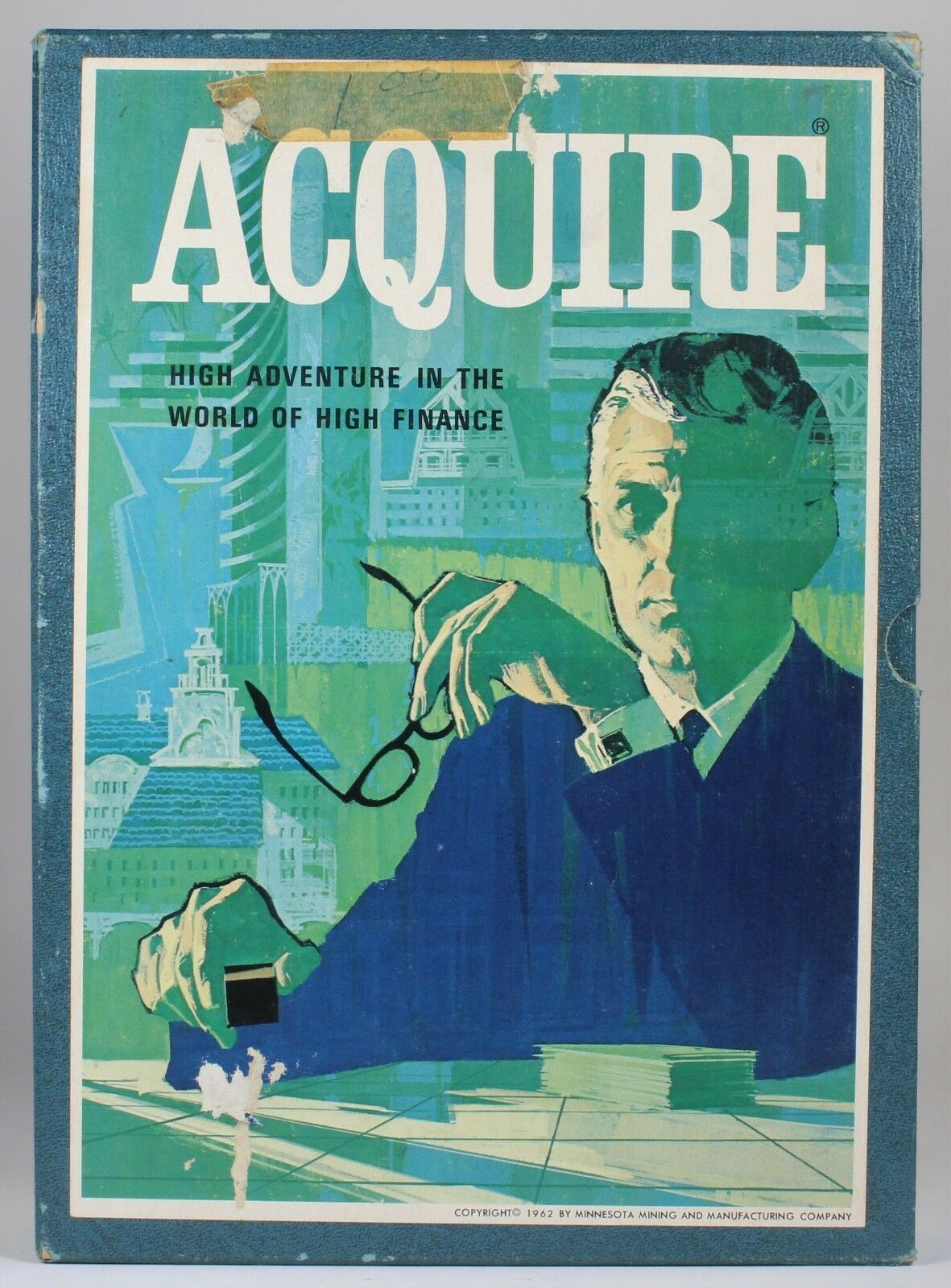 Vtg 1962 ACQUIRE Bookshelf Game (3M) - COMPLETE, Components In Great Condition