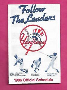 RARE-1986-NEW-YORK-YANKEES-POCKET-SCHEDULE-INV-C2174