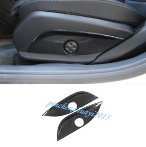 2PCS Carbon Fiber Seat Handle Panel Cover Trim For Benz E Class W213 2016-2019
