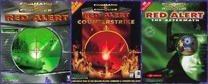 COMMAND & CONQUER RED ALERT + COUNTERSTRIKE & AFTERMATH Windows 10 8 7 Vista XP