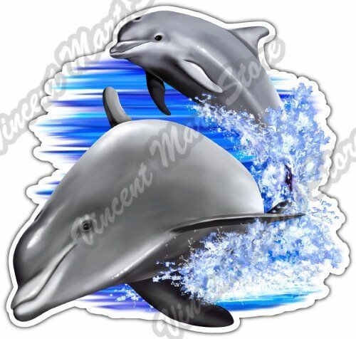 Dolphin Flip Flops Fish Ocean Sea Car truck Window Wall Vinyl Decal Sticker